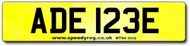 Adel Number Plate