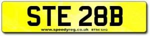 STE 28B Number Plates