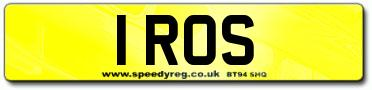 1 ROS Number Plates