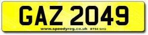 GAZ Number plates