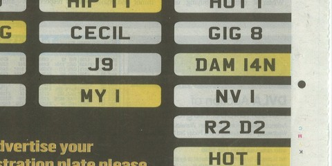 Number Plates Advert