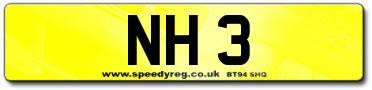 NH 3 Number Plates