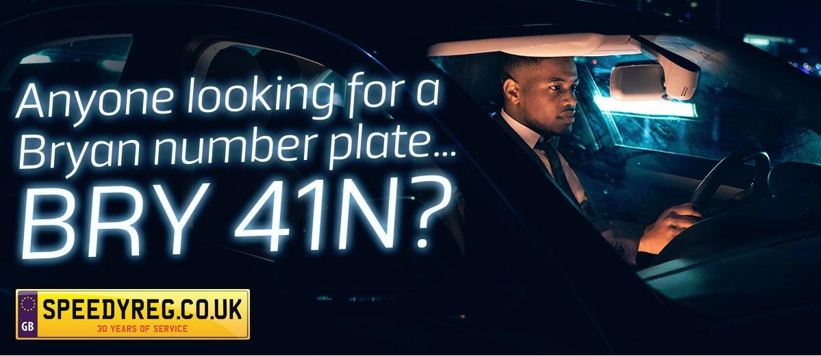 BRY41N number plates