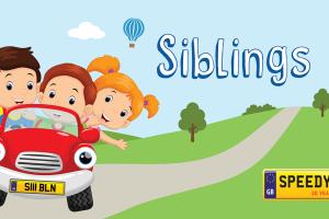 Siblings Day Number Plates - Speedy Reg
