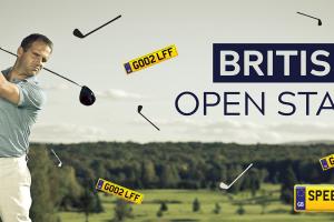 Bristish Open Starts Number Plates - Speedy Reg