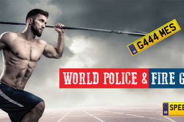 World Police & Fire Games Number Plates - Speedy Reg
