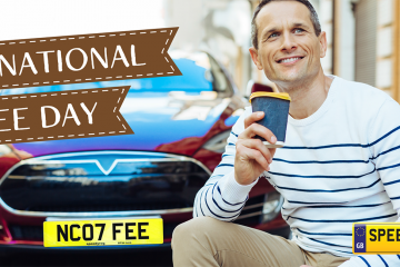 International Coffee Day Number Plates - Speedy Reg