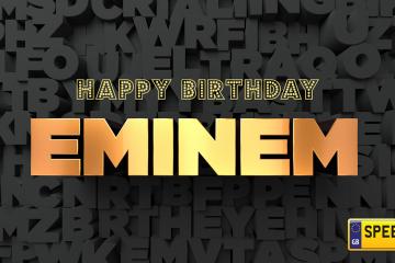Eminem Birthday Number Plates - Speedy Reg