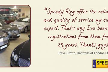 Hanwells Customer Thanks - Speedy Reg