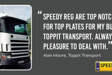 Toppit Transport Customer Thanks - Speedy Reg