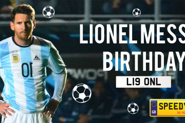 Lionel Messi's Birthday Number Plates - Speedy Reg