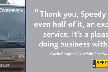 Norfolk Coachways Customer Thanks - Speedy Reg