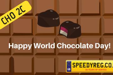 World Chocolate Day Number Plates - Speedy Reg