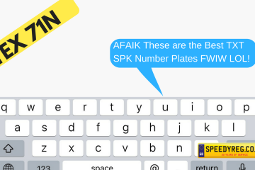 Text Speak Number Plates - Speedy Reg