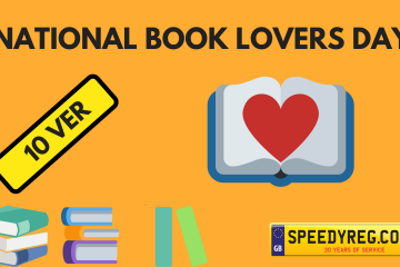 National Book Lovers Day Number Plates - Speedyreg