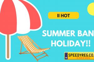 Summer Bank Holiday Number Plates - Speedy Reg