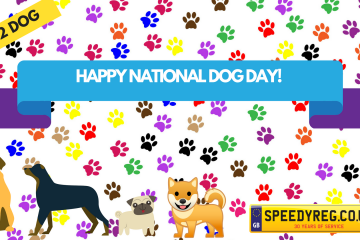 Happy National Dog Day Number Plates - Speedy Reg