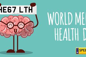 World Mental Health Number Plates - Speedyreg