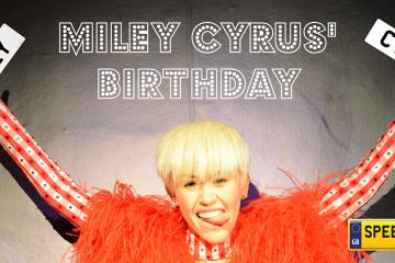 Miley Cyrus Birthday Plates - Speedy Reg