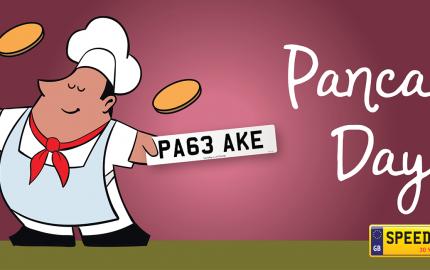 Pancake Day Number Plates - Speedy Reg