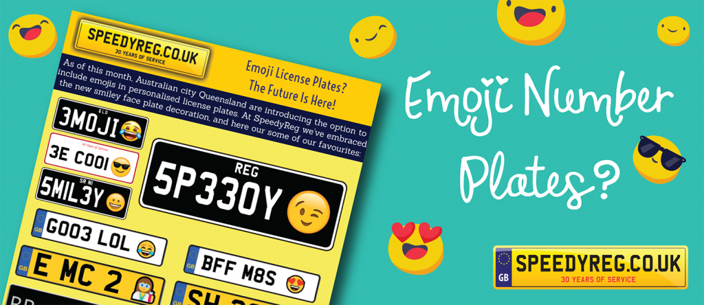 Emoji Number Plates - Speedy Reg