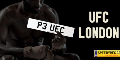UFC London Number Plates - Speedy Reg