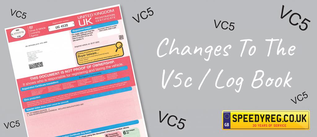 New V5C from 15th April 2019 - Speedy Reg