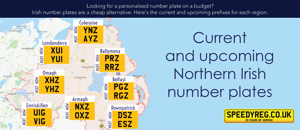 Upcoming Northern Irish Number Plates - Speedyreg