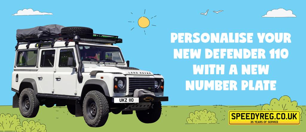 Defender 110 - Number Plates
